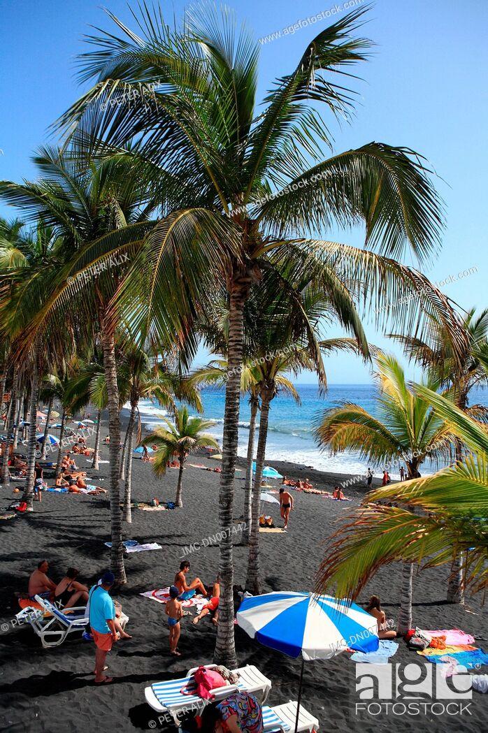 Stock Photo: Spain, Canary islands, La Palma, Puerto Naos, beach.