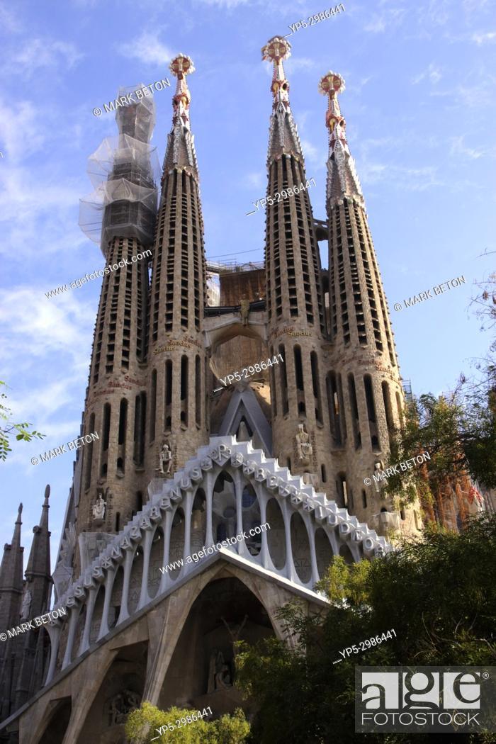 Stock Photo: La Sagrada Familia, Barcelona, Spain.