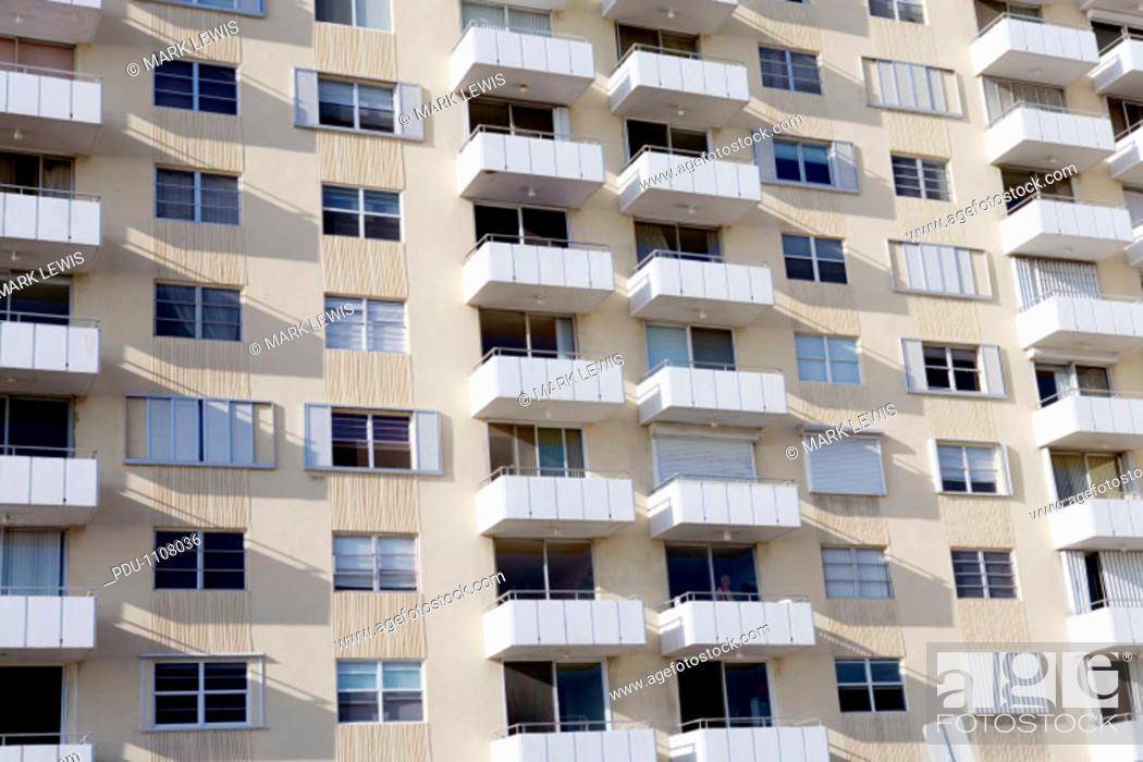 Stock Photo: Apartment building exterior.