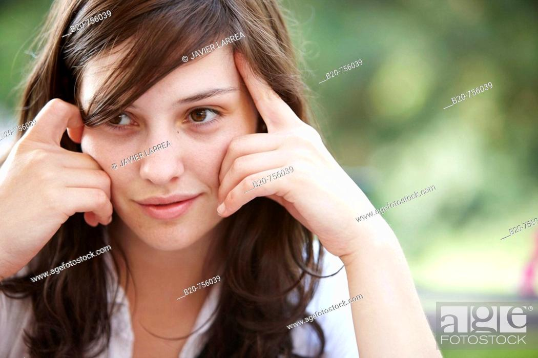 Stock Photo: 20 year old woman.