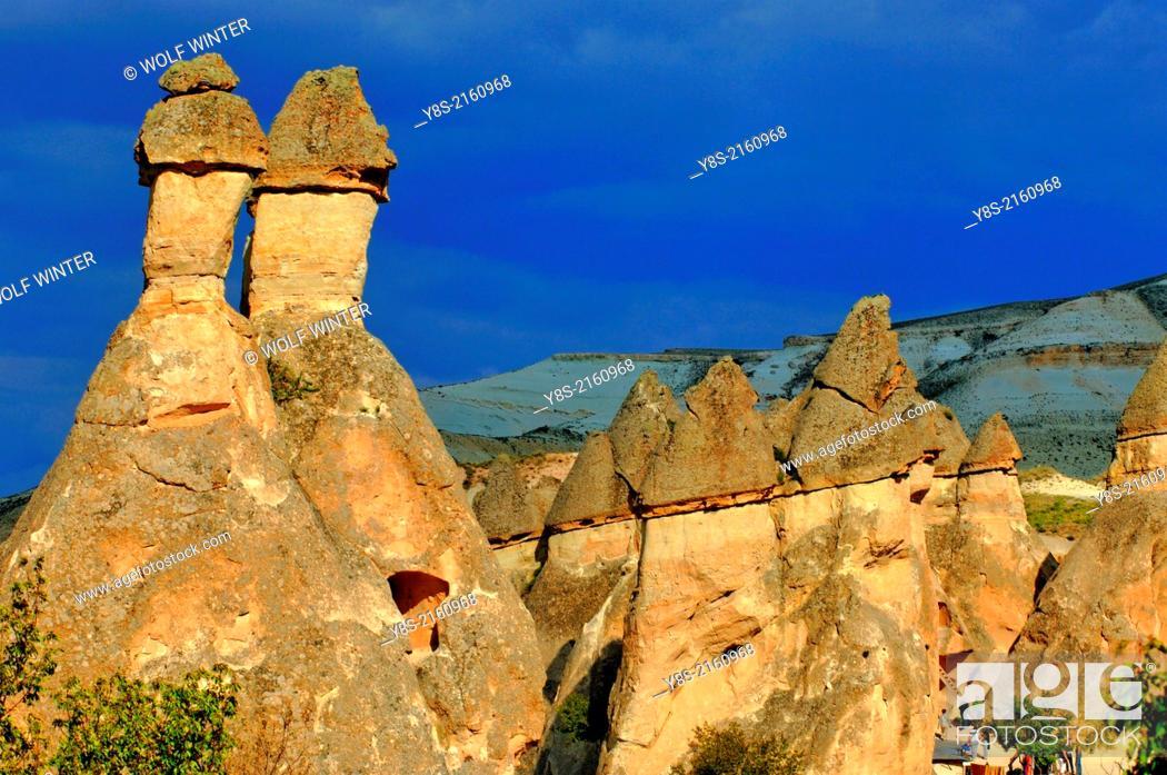 Stock Photo: Valley of Monks near Goereme, Cappadocia.