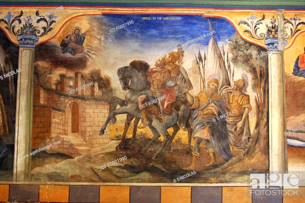 Stock Photo: Bulgaria, Plovdiv, old city, fresco.