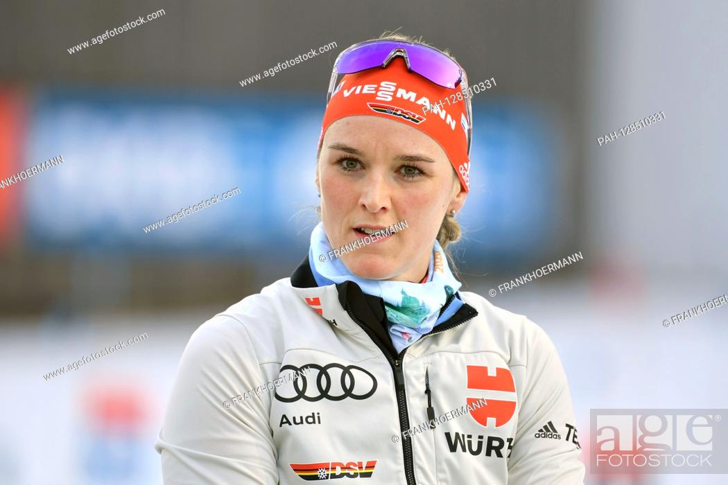 Stock Photo: Denise HERRMANN (GER), single image, cut single motif, portrait, portrait, portrait 7.5km sprint of women, women on January 15th, 2020 .
