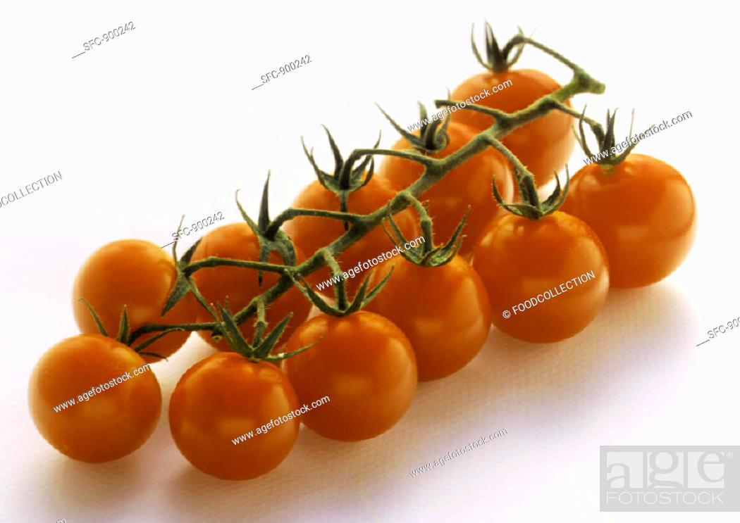 Stock Photo: Cherry Tomatoes with Vine.