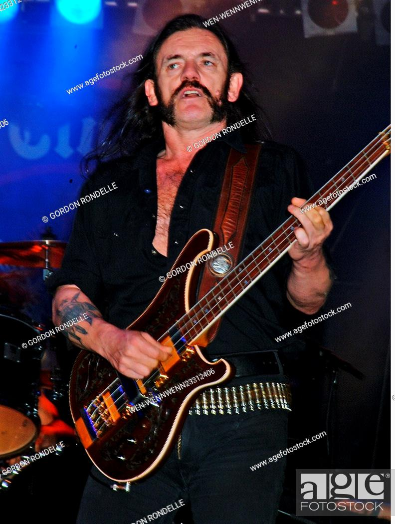 Lemmy of Motorhead performing live on stage in Faro