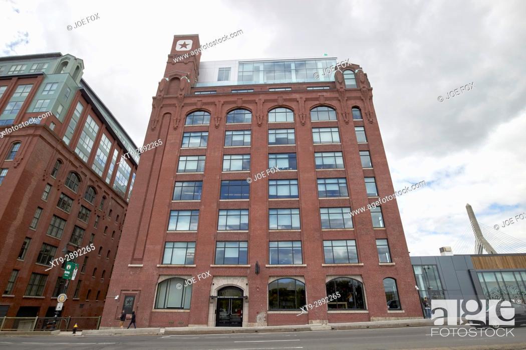 eed450f77a5165 Stock Photo - Lovejoy Wharf former submarine signal building converse world  headquarters building Boston USA.