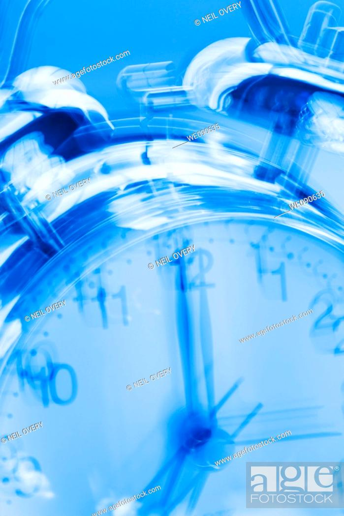 Photo de stock: Alarm clock ringing.