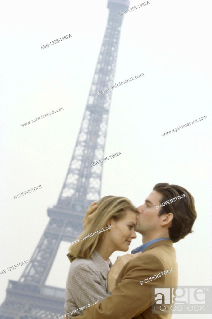 Stock Photo: Eiffel Tower Paris France.