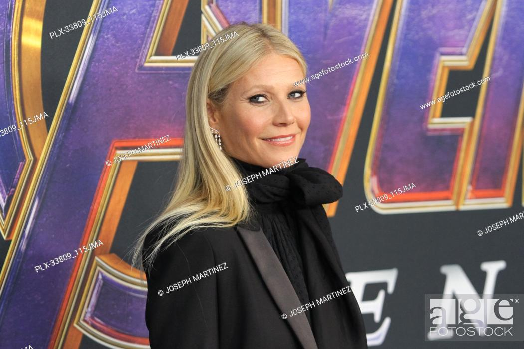 """Stock Photo: Gwyneth Paltrow at The World Premiere of Marvel Studios' """"""""Avengers: Endgame"""""""" held at the Los Angeles Convention Center, Los Angeles, CA, April 22, 2019."""
