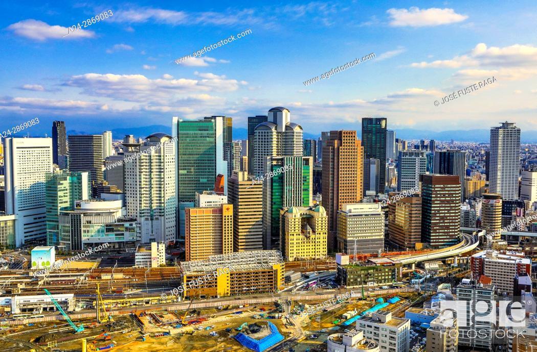 Imagen: Japan, Osaka City, Umeda District skyline.