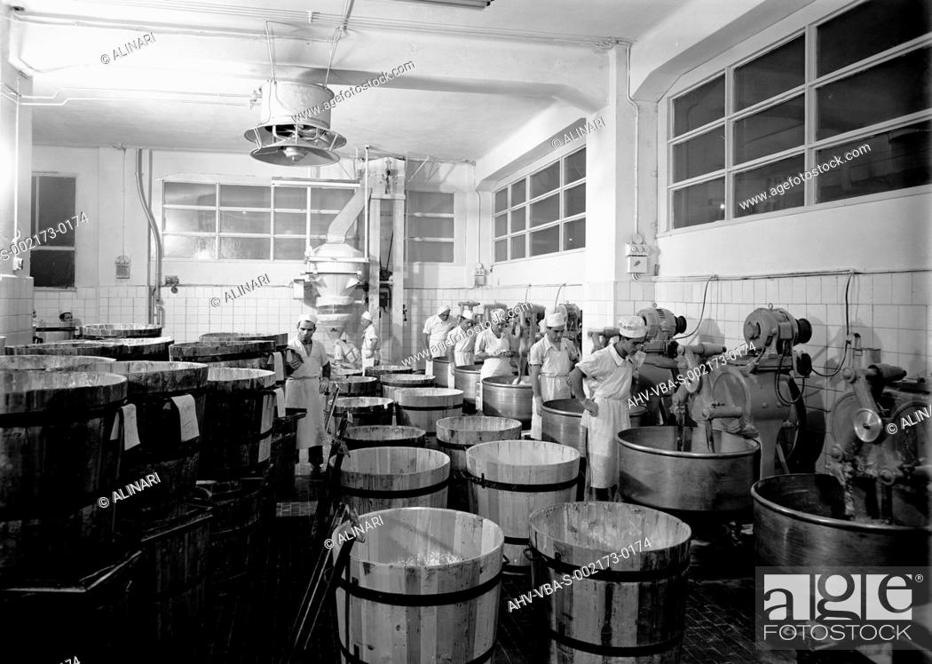 The Dough Department Of The Motta Factory In Milan Shot 1950 By