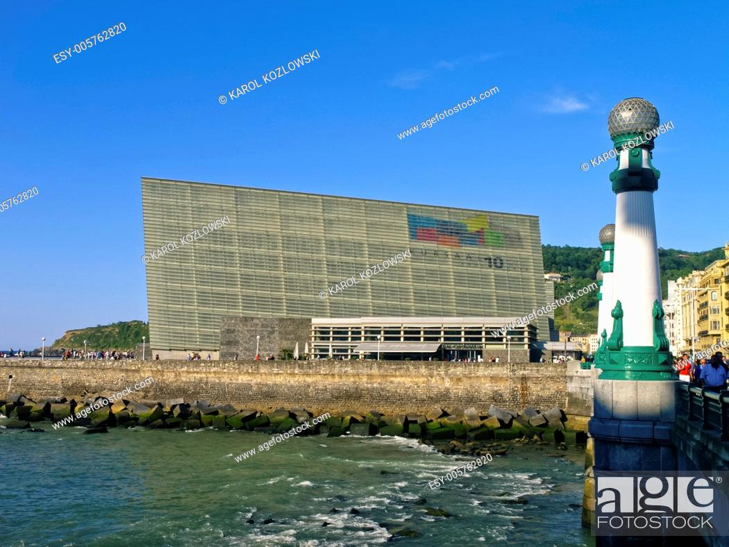 Stock Photo: Kursaal Auditorium in Donostia - San Sebastian, Basque Country, Spain.