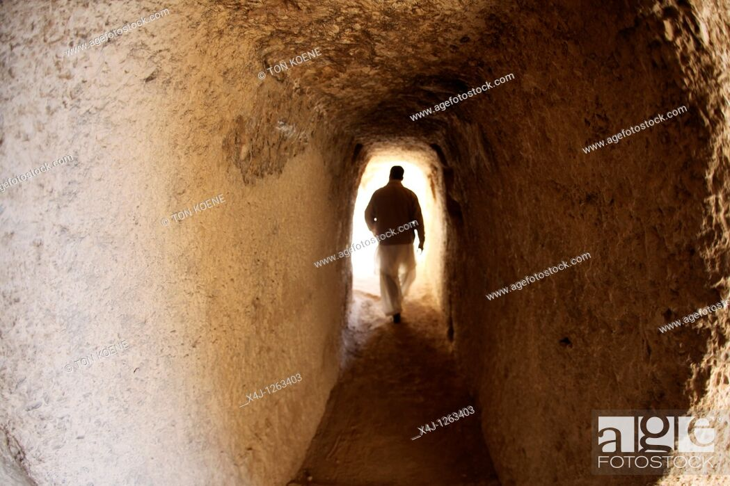 Stock Photo: Buddha caves in bamyan, Afghanistan.