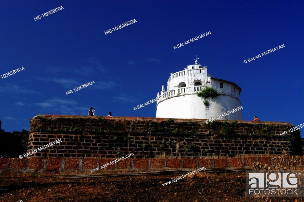 Stock Photo: AGUADA FORT, GOA, INDIA.