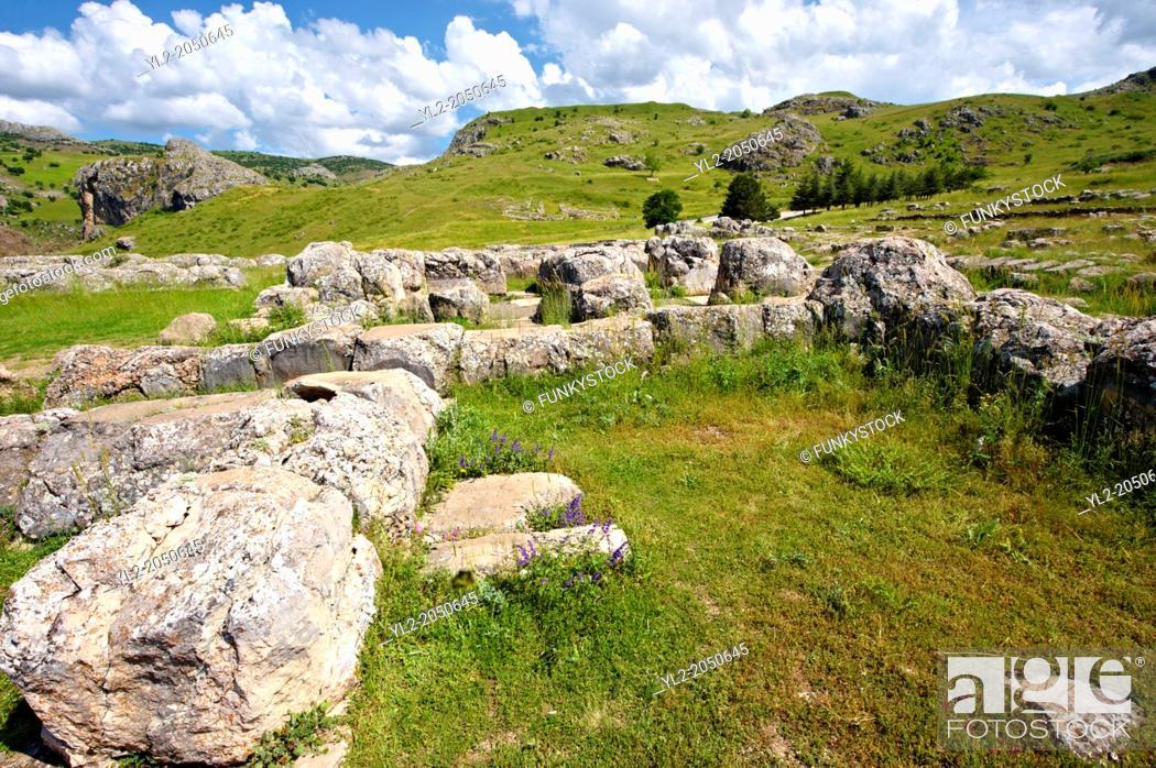 Stock Photo: Photo of the Palace Walls to the Hittite capital Hattusa 5.
