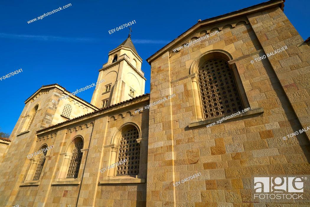 Stock Photo: Gijon San Pedro church in Asturias Spain.