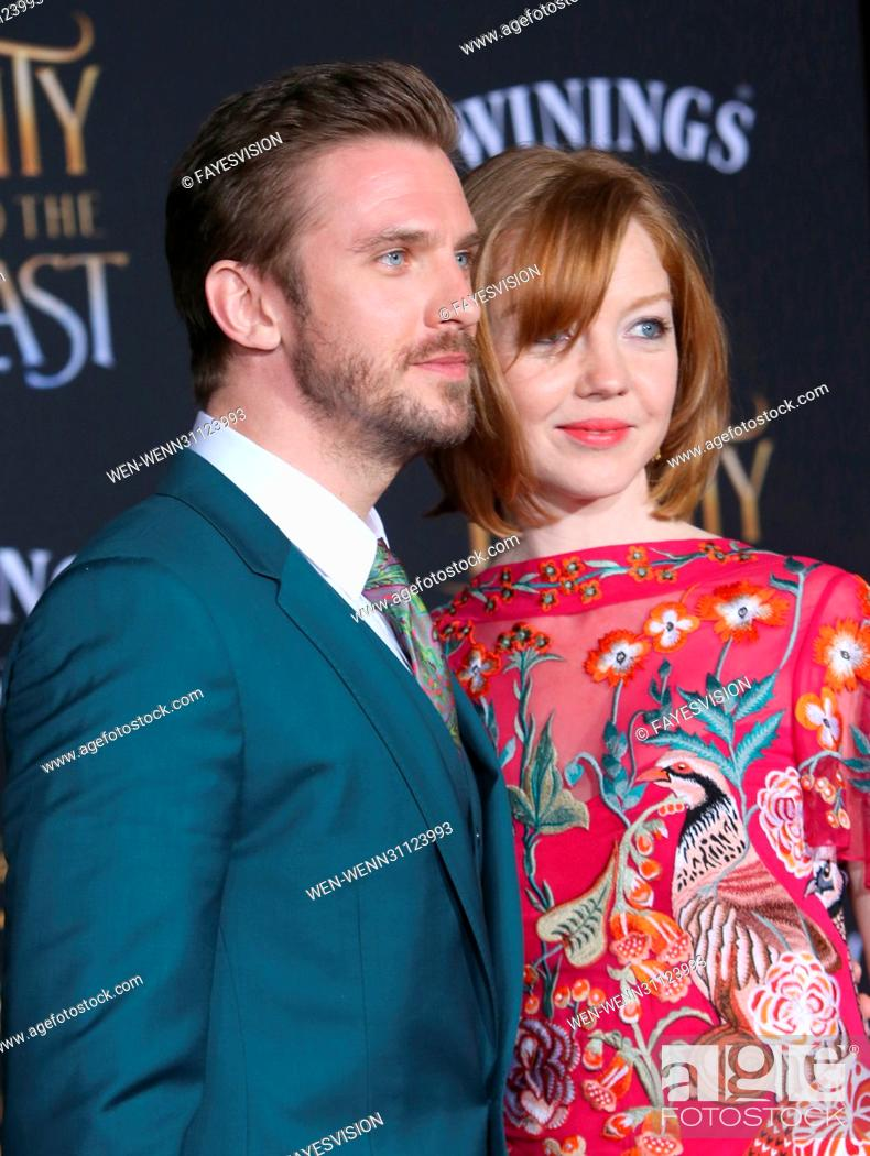 Imagen: Dan Stevens and Susie Hariet attending the World Premiere of Disney's 'Beauty and the Beast' at the El Capitan Theater in Los Angeles, California.