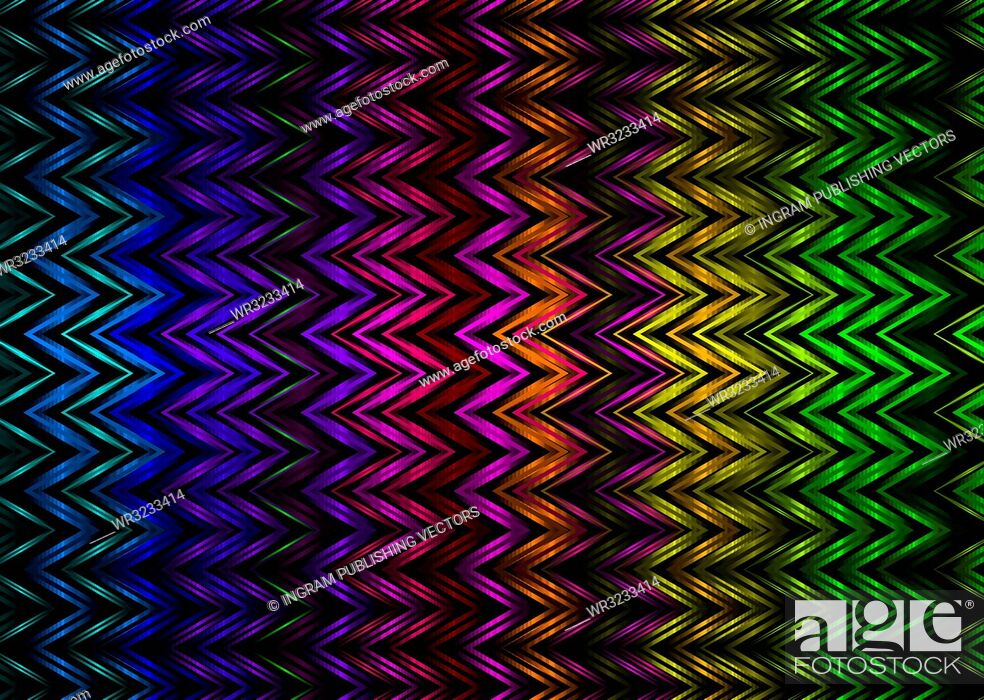 Vector: abstract rainbow background with zig zag lines ideal desktop.