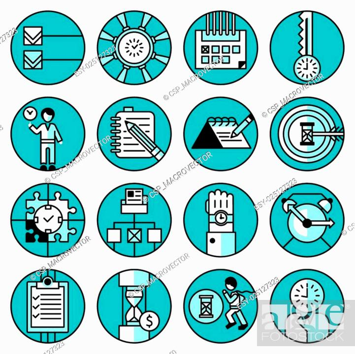 Stock Vector: Time Management Icons.