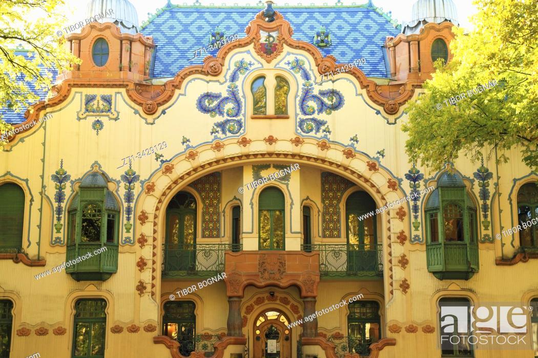 Stock Photo: Serbia, Vojvodina, Subotica, Raichle Mansion, art gallery.