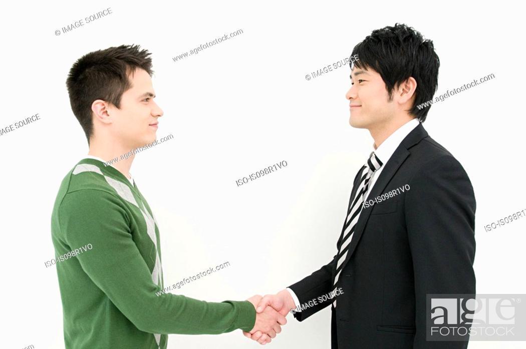 Stock Photo: Businessmen shaking hands.