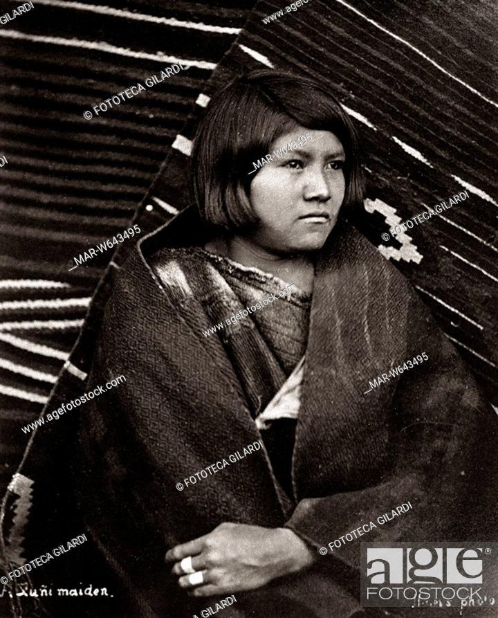 reputable site a0e1e 011b1 INDIANI D'AMERICA ragazza nubile Zuni, Arizona. Collezione ...