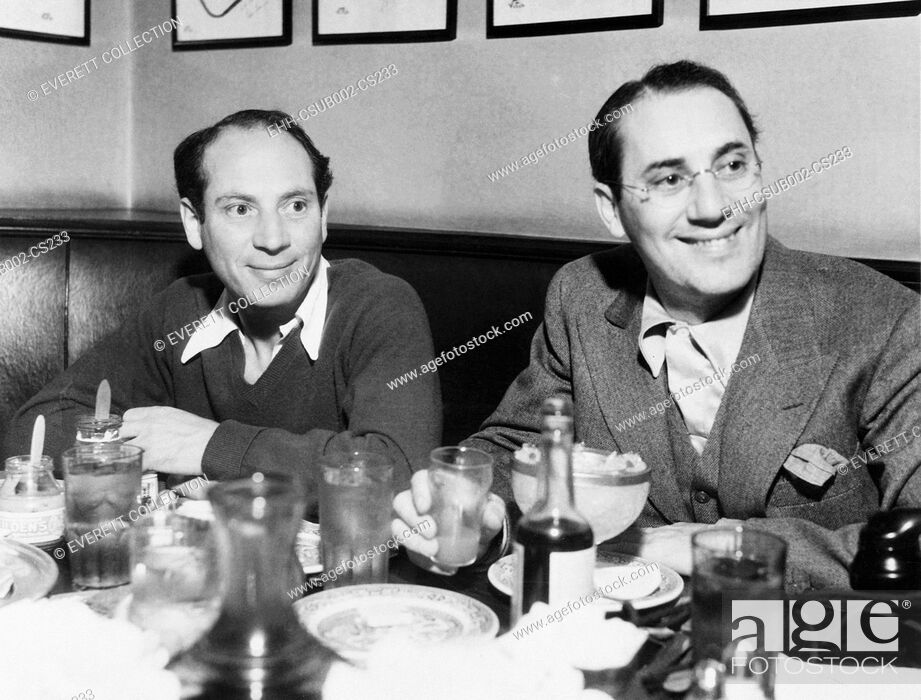 Stock Photo: Chico (left) and Groucho Marx at lunch in the famous Brown Derby Restaurant in Hollywood. Feb. 16, 1933 (CSU-2015-11-1249).
