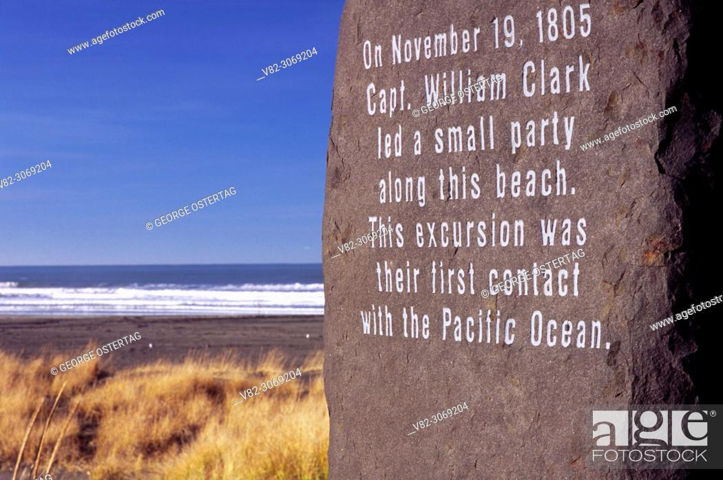Imagen: Capt. William Clark monument, Discovery Trail, Long Beach, Washington.