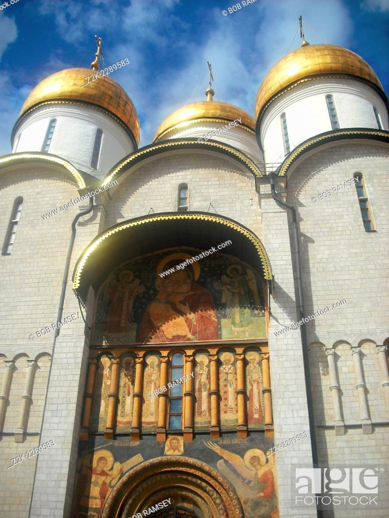 Stock Photo: Dormition Cathedral, Moscow, Russia.