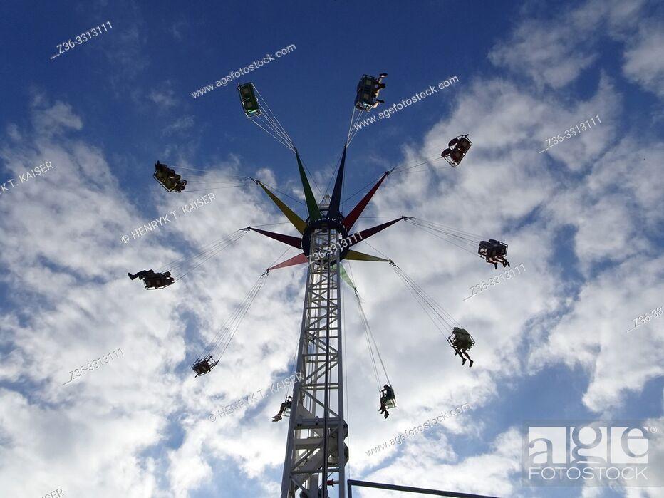 Stock Photo: Carousel in Zarabie, Myslenice, Poland.
