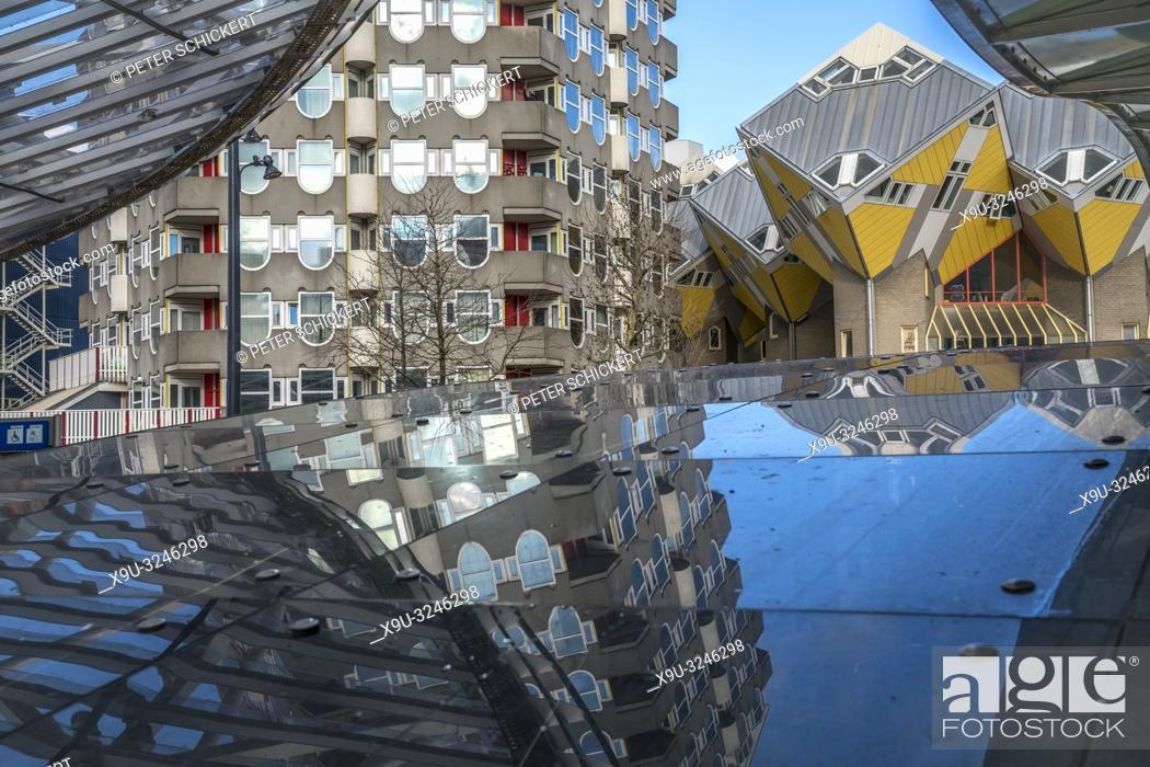 Moderne Architektur Und Kubushauser In Rotterdam Sudholland