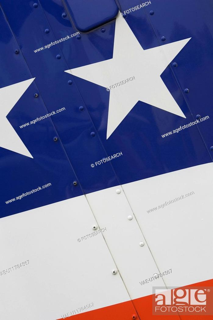 Stock Photo: Blue, Flag, Day, Close-Up, American Flag.