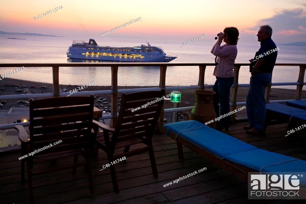 Stock Photo: Mykonos  Cyclades Islands  Greece.
