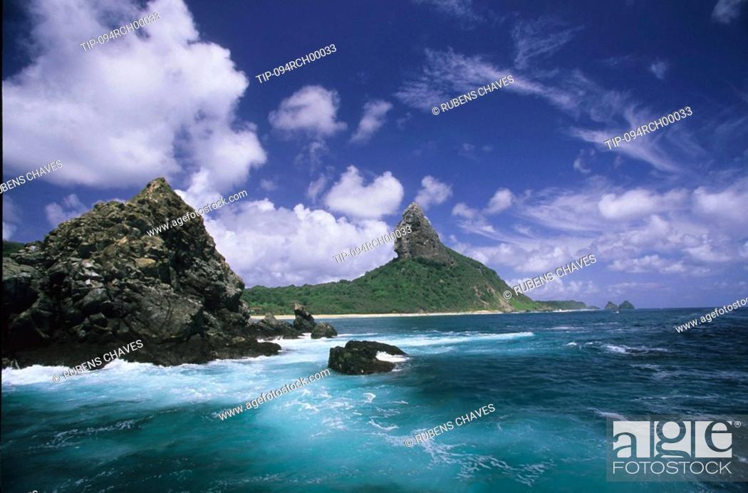 Stock Photo: Sight of the Morro de Fora, Fernando de Noronha Island, Pernambuco, Brazil.