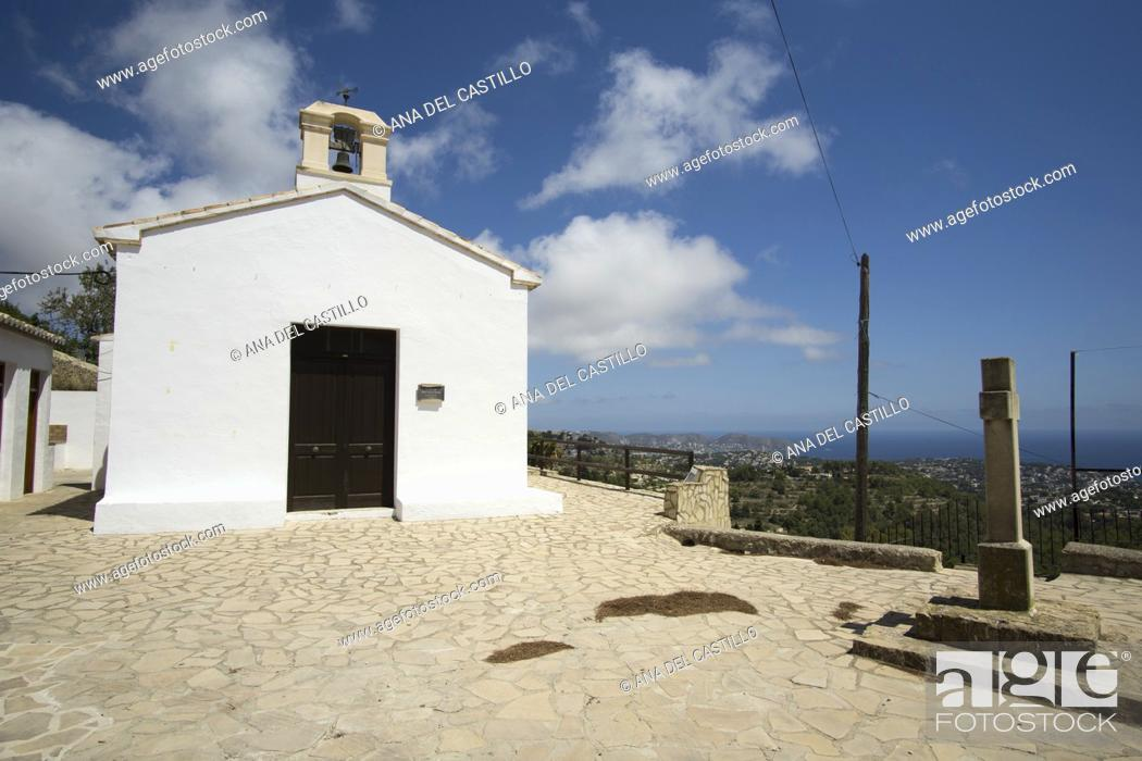 Stock Photo: Sant Vicente Ferrer of Pedramala chapel in Benissa mountains Alicante province Spain.