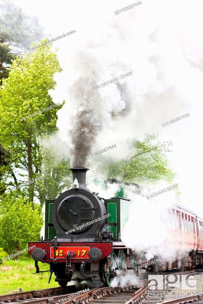 Stock Photo: steam train, Strathspey Railway, Highlands, Scotland.