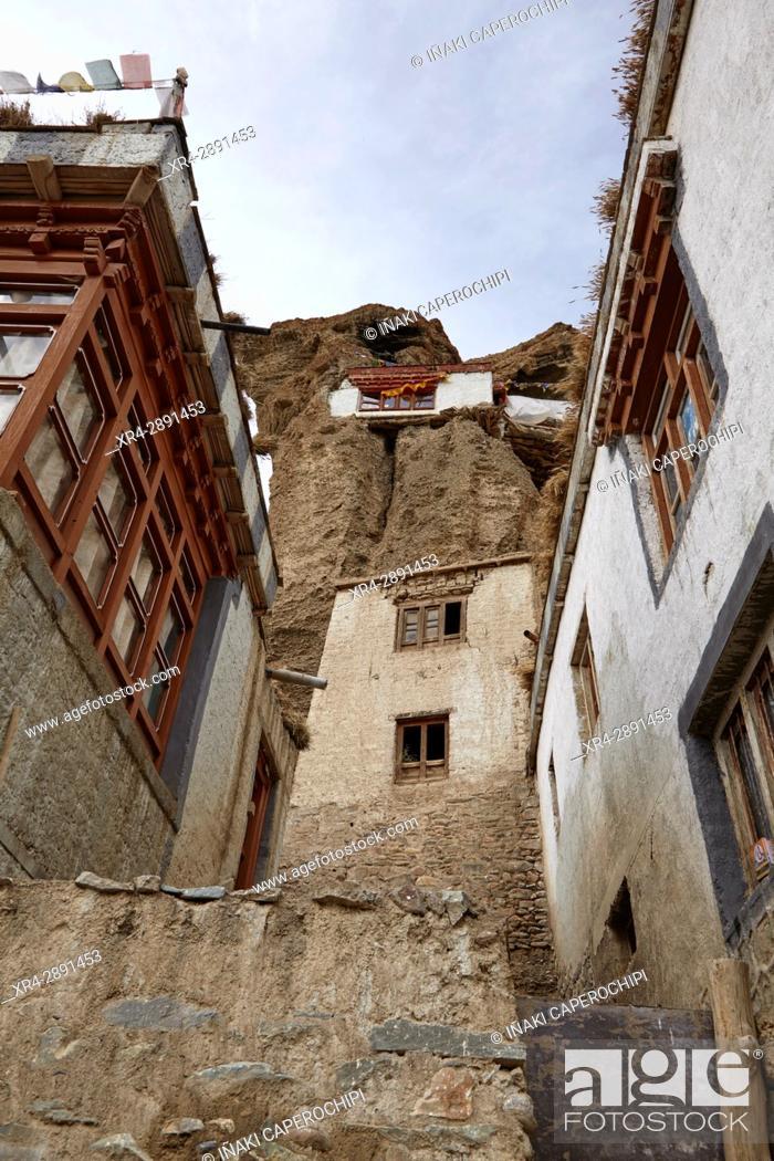 Stock Photo: La Gompa de Gyal, Wakha Valley, Gyal, Ladakh, India.