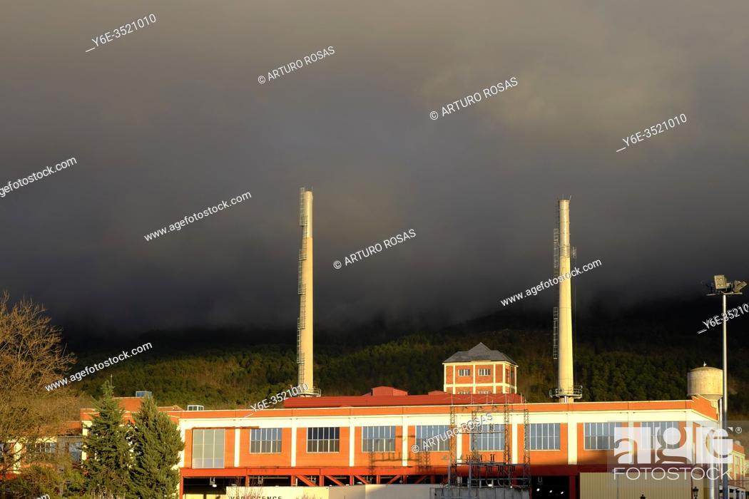 Stock Photo: Verescence La Granja Insulators, glass factory in Real Sitio de San Ildefonso, province of Segovia.