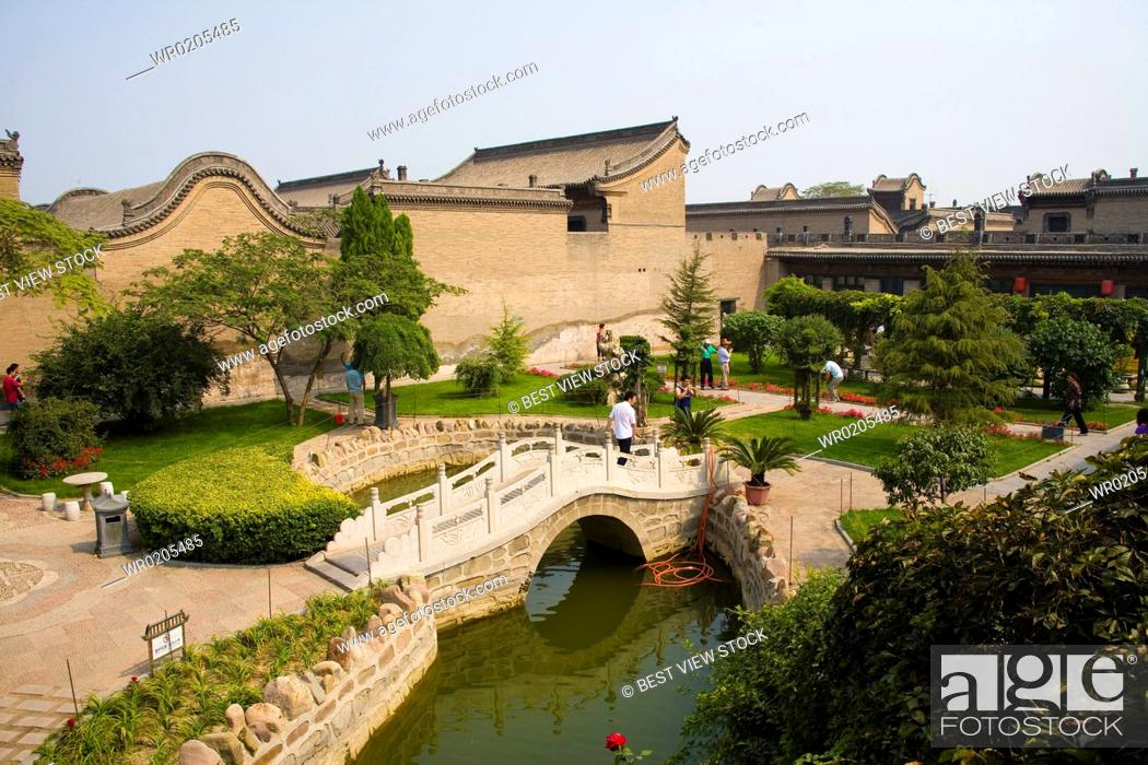 Stock Photo: The Yard of Qiao Family-a wealthy family of that period named Qiao,Shanxi.
