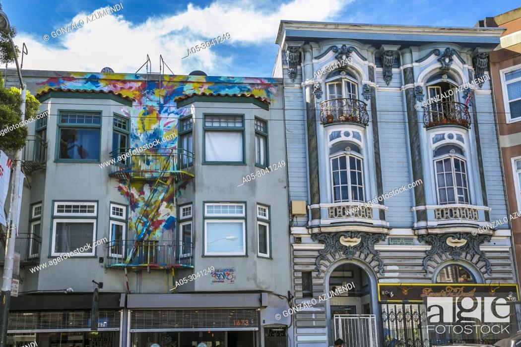 Imagen: Haight-Ashbury district. The neighborhood is known for being the origin of hippie counterculture. San Francisco. California, USA.