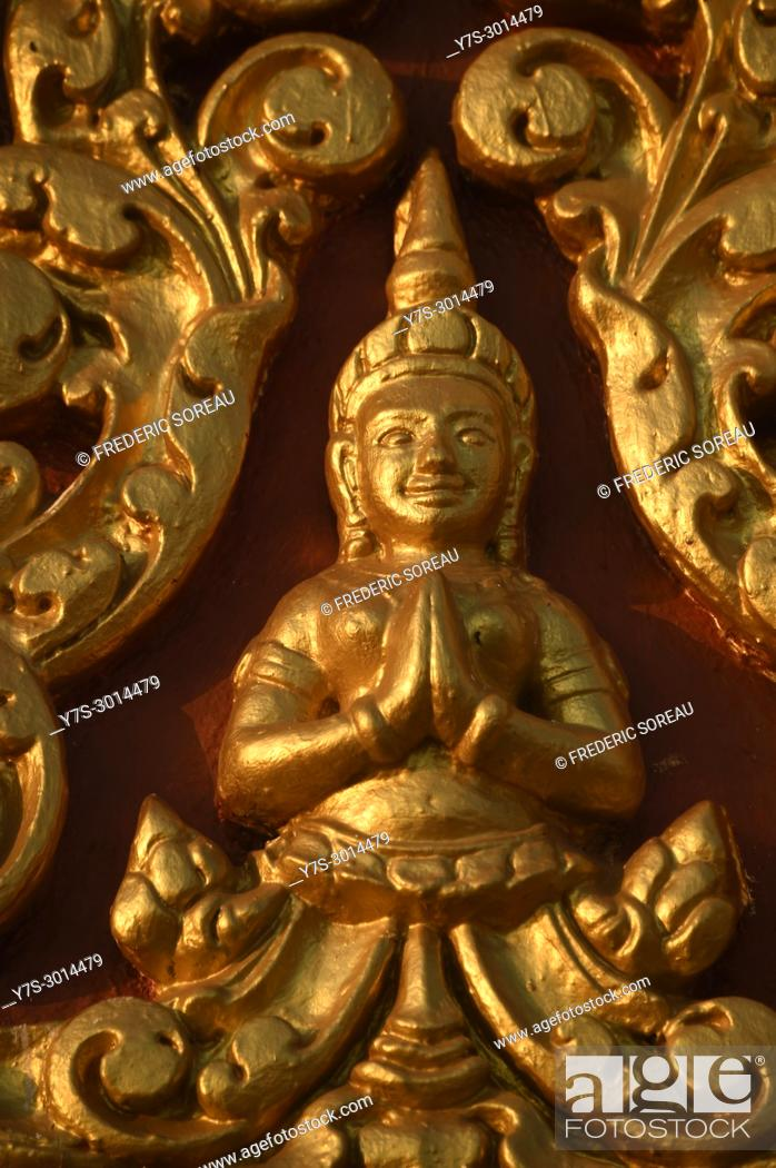 Stock Photo: Buddha statue in Phnom Penh, Cambodia, South East Asia, Asia.