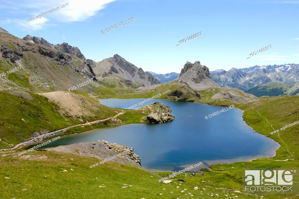 Stock Photo: Ruburent or Rouburent Lake Piedmont Italian Alps Italy.