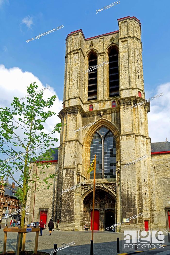 Stock Photo: Sint-Michielskerk, Ghent Belgium.