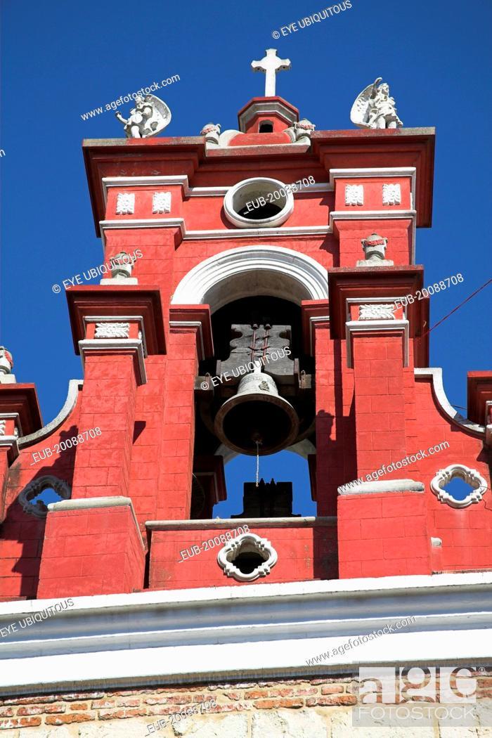 Stock Photo: Bell tower, Iglesia de San Juan de Dios, near the Zocalo.