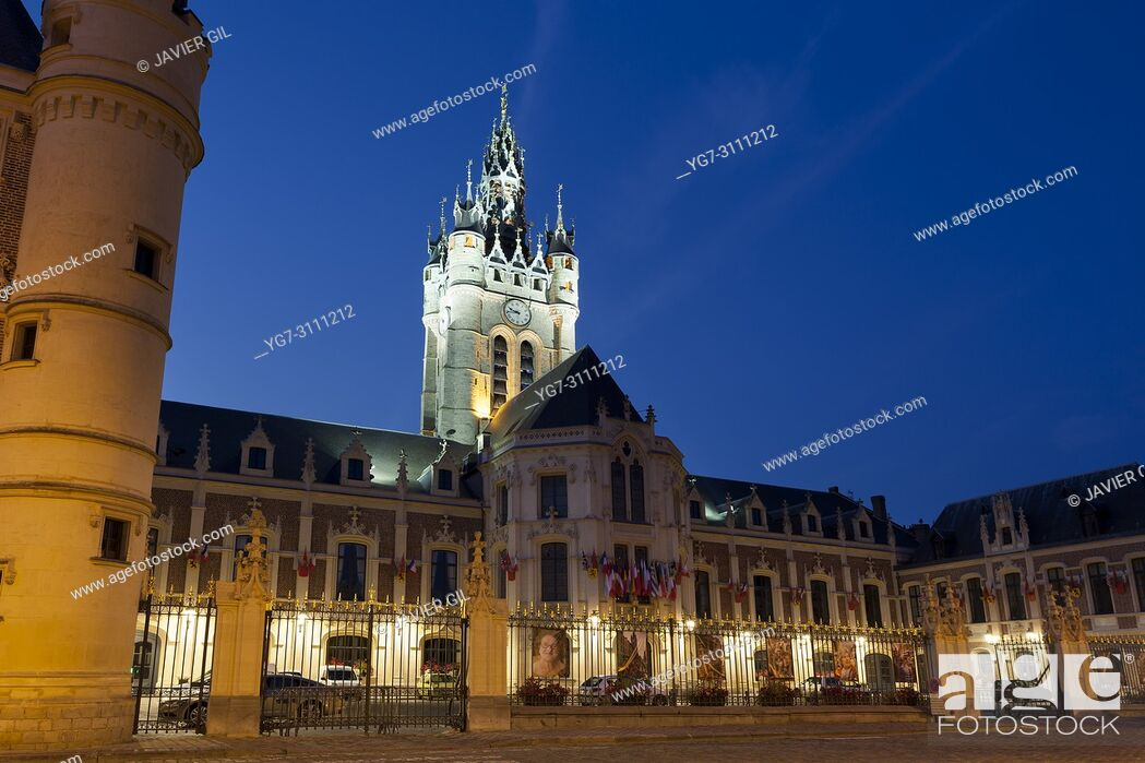 Stock Photo: Belfry of Douai, Nord, Hauts-de-france, France.