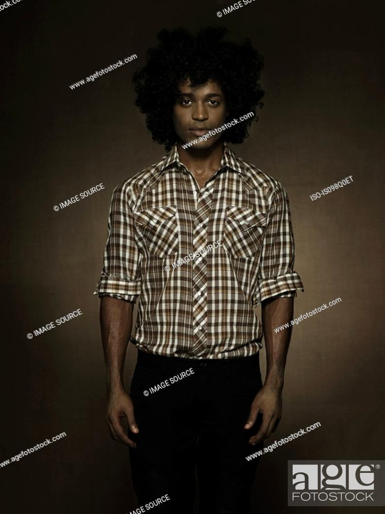 Stock Photo: Portrait of a young man.