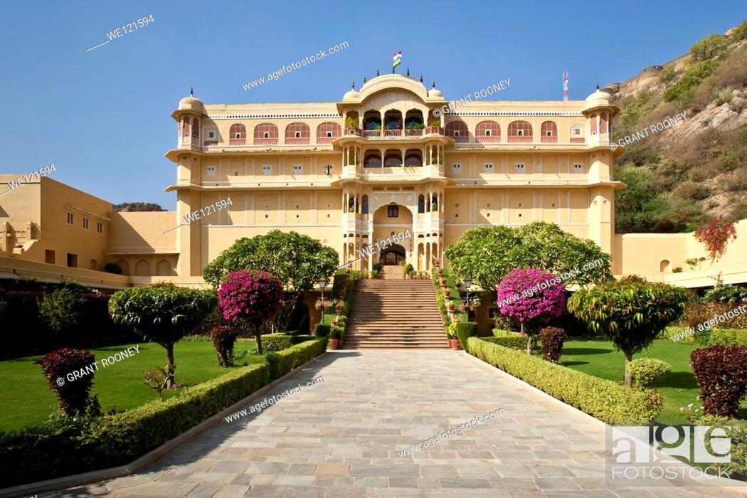 Stock Photo: The Samode Palace, near Jaipur, Rajasthan, India.
