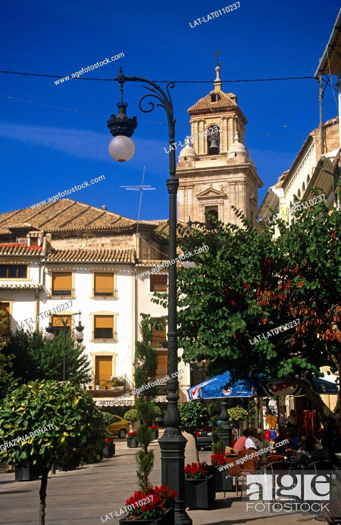 Stock Photo: Caravaca de la Cruz is a town in Murcia, and a pilgrimage site as the church houses a relic of the True Cross which has major significance for the Roman.