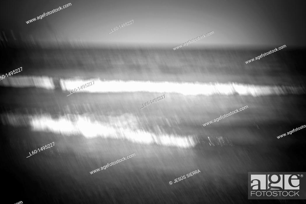 Stock Photo: Waves , Cabo de Gata, Spain.