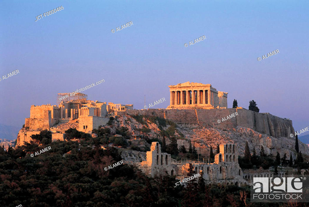 Stock Photo: Athens, Acropolis and Parthenon.